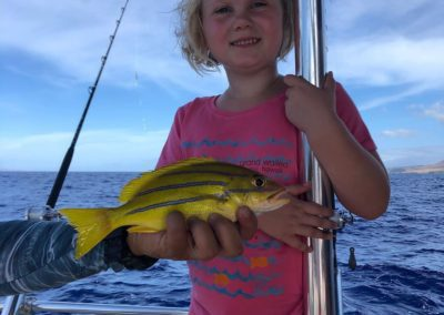 Girl and snapper