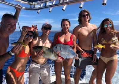 Happy fisherfolk